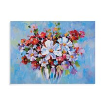 Hollywood Glam Bold Floral Painting Print on Canvas