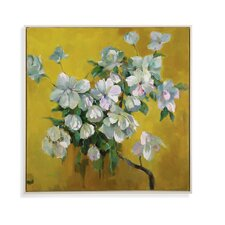 Old World Summer Floral Painting Print on Canvas