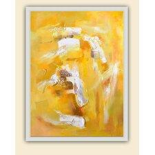 Jaune Tourbillon Original Painting on Canvas