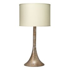 "Hammered Metal 33.5"" H Table Lamp with Drum Shade"
