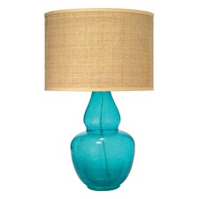 "Gourd 28"" H Table Lamp with Drum Shade"