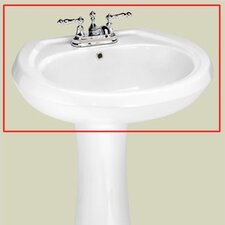 "Stafford 4"" Center Medium Pedestal Sink Basin"