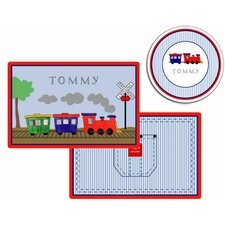 The Kids Tabletop 2 Piece All Aboard Placemat Set