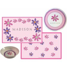 The Kids Tabletop 3 Piece Flower Power  Placemat Set