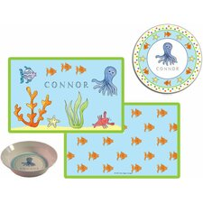 The Kids Tabletop 3 Piece Under The Sea Placemat Set
