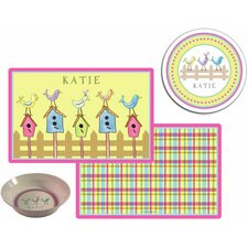 The Kids Tabletop 2 Piece For The Birds Placemat Set
