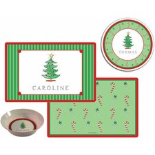 The Kids Tabletop 2 Piece Christmas Tree Placemat Set