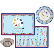 The Kids Tabletop 2 Piece Little Artist Placemat Set