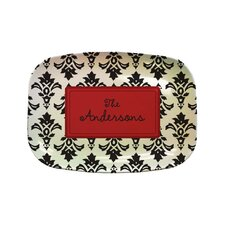 Everyday Tabletop Damask Rectangular Platter