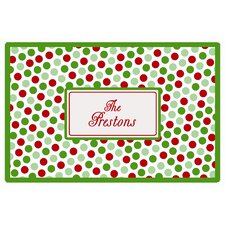 Everyday Tabletop Christmas Dots Placemat