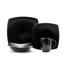 Vanilla Black Rice 16 Piece Place Setting Set