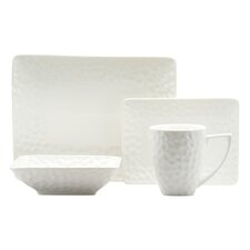 Vanilla Marble Rectangular 16 Piece Dinnerware Set