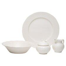 Nantucket White Serving Bowl 4 Piece Set