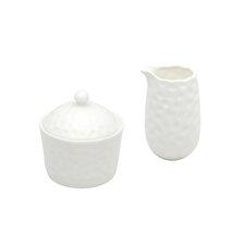 Marble 2 Piece Covered Sugar Bowl & Creamer Set