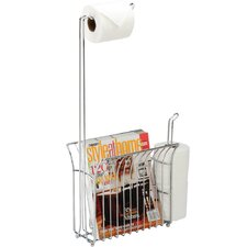 The Toilet Caddy Free Standing Toilet Mate Tissue Dispenser and Organizer
