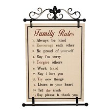 Family Rules Wall Décor