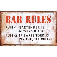 Bar Rules Wall Décor