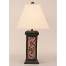 "Rustic Living Small Square Pot 28.5"" H Table Lamp with Empire Shade"