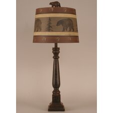 "Rustic Living Square Buffet 32"" H Table Lamp with Empire Shade"