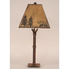 "Rustic Living Iron 31.5"" H Table Lamp with Empire Shade"
