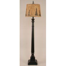 "Rustic Living Square Candlestick 64"" Floor Lamp"