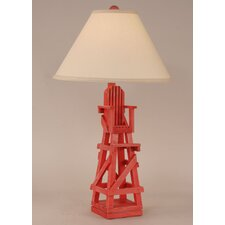 """Coastal Living Life Guard Chair 29.5"""" H Table Lamp with Empire Shade"""