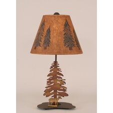 "Rustic Living Iron Deer 21.5"" H Table Lamp with Empire Shade"