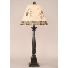 "Rustic Living Square Candlestick 33"" H Table Lamp with Empire Shade"