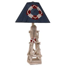 "Coastal Living Life Guard Chair 29.5"" H Table Lamp with Empire Shade"