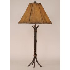 "Rustic Living Iron 32.5"" H Table Lamp with Empire Shade"