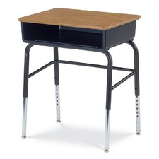 785 Series Laminate Adjustable Height Student Desk with Leg Brace