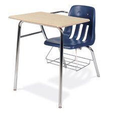 """9000 Series 30"""" Plastic Combo Chair Desk with Bookrack"""
