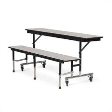 Mobile Convertible Bench Table