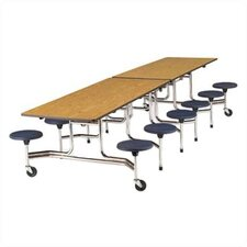Rectangular 12 Stool Table with Sure Edge Finish