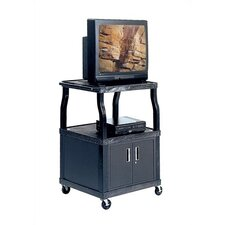 Wide-Body AV Cart with Cabinet