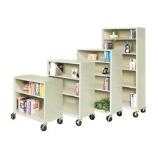 Mobile Double-Shelf Book Truck