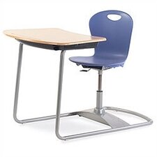 Zuma Series Ergo Plastic Student Combo Chair Desk