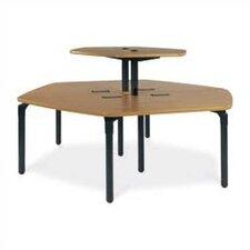 "Plateau Series 46"" x 21"" Trapezoidal Classroom Table"