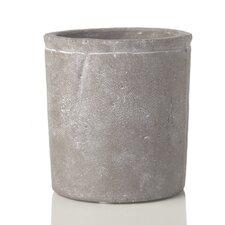 Fleur Decorative Stone Cylinder Container