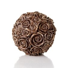 Chateau Resin Glittered Rose Orb