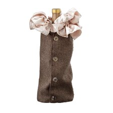 Georgian Holiday Herringbone Wine Bottle Cover (Set of 12)