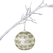 Winter Sage Holiday Glass Fern Ball Ornament (Set of 2)