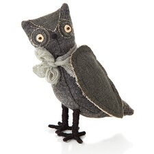 Halloween Cloth Standing Owl Figurine (Set of 2)