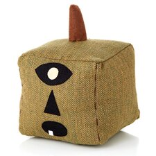 Halloween Folk Art Square Cloth Pumpkin (Set of 2)