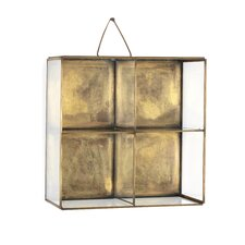 Voyager Glass and Brass Wall Shelf