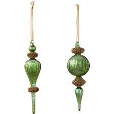 Donna Steven's Beaded Finial Ornament (Set of 6)