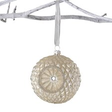 Winter Sage Holiday Reflector Glass Ball Ornament (Set of 6)
