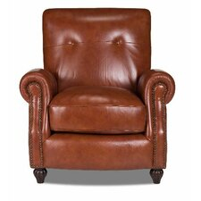 Benjamin Leather Press Back Arm Chair