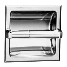 Recessed Toilet Paper Dispenser For Single Roll