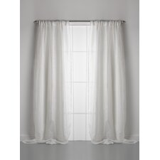 Solid Linen Rod Pocket Single Curtain Panel